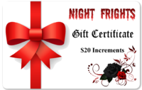 Night Fright Gift Certificate red bow